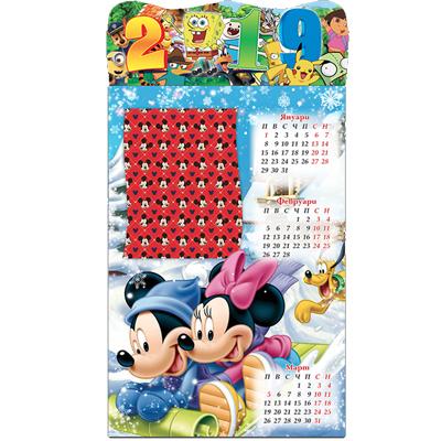 Детски календар мики маус многолистов