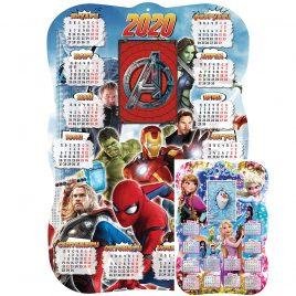 Детски еднолистов календар 2020 Супергерои. Детски календар със снимка.