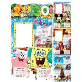 Детски Календар 2020 спондж боб. Детски многолистов календар със снимка.